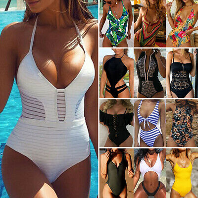 Womens One-Piece Swimsuit Bandage Bikini Push-up Padded Swimwear Bathing suit US