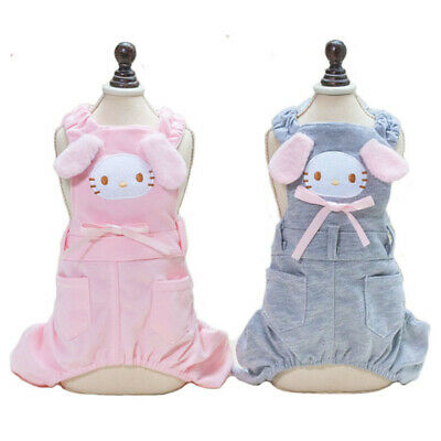 Pet Dog Cat Cute Cartoon Overalls Teddy Chihuahua Suspenders Winter Dog Clothes