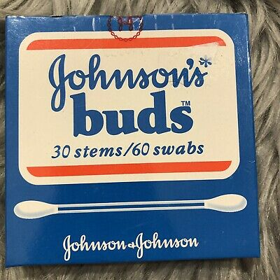 VTG Johnson's Buds Cotton Swabs New In Box Sealed Prop NOS