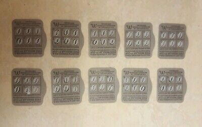 MCDONALDS COFFEE LOYALTY CARDS CAPPUCCINO CHOCOLATE LATTE x 5 GENUINE  EXP 12/19