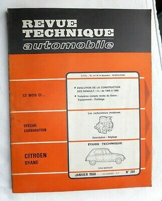 RTA Revue technique automobile / CITROEN DYANE TOUS MODELES/Evolution Renault 4