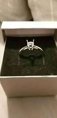 Size 9 925 Sterling Silver Ring Mount Fits 8x5mm Pear