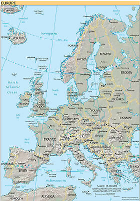 Brand New Poster Print - Map of Europe (A3/A4)