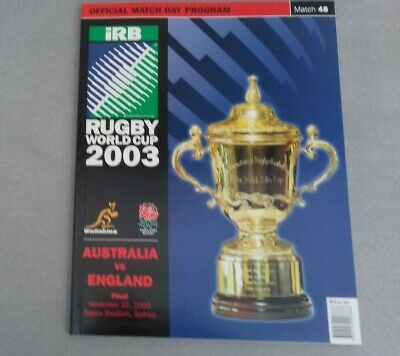 5 x 2003 Rugby World Cup Final Programme Australia vs England in mint condition