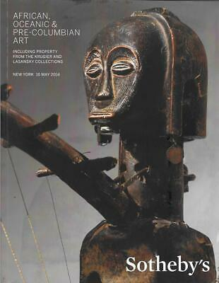 Sotheby's African Tribal Oceanic Pre-Columbian Auction Catalog May 2014