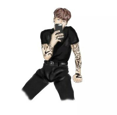 KPOP, BTS, Jeon Jungkook x Tattoos Sticker. New