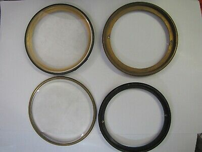 4 x Large French Clock Bezels and Backs