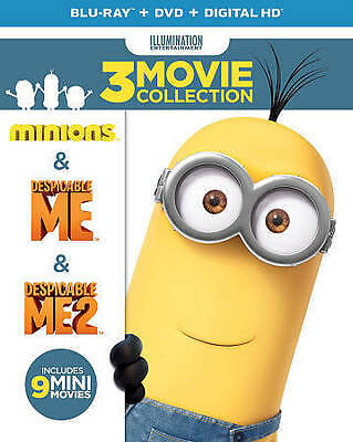 NEW!!! Despicable Me 3-Movie Collection (Blu-ray/DVD, 2016, 6-Disc Set)