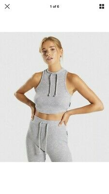 e9ba92ea200cdf Gymshark Womens Slounge Wear Crop Top Grey Marl Size Small New With Tags
