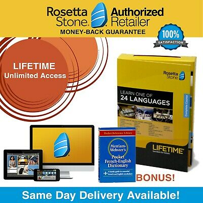 Rosetta Stone® French LIFETIME UNLIMITED Access Full Course Learn App FREE BONUS