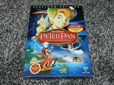 2007 Walt Disney Peter Pan 2 Disc Platinum Edition 2 Disc Dvd *New*