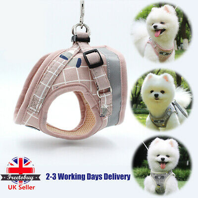 No-pull Dog Cat Harness Reflective Adjustable Small Medium Mesh Jacket Pet Vest