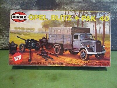 Vintage Airfix Ww2 German Opel Blitz And Pak 40 Box Dated 1979