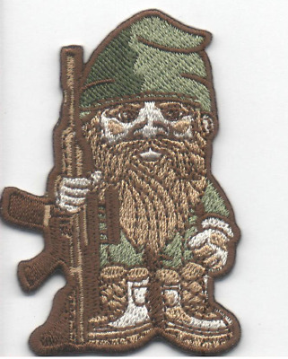 BuckUp Tactical Morale Patch VELCRO® BRAND Hook Gnome Rifle Multitan 2.5""