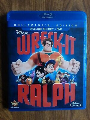Wreck-It Ralph (Blu-ray/DVD, 2013, 2-Disc Set)
