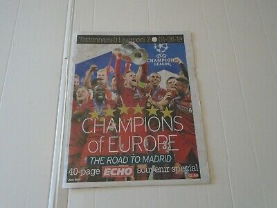 Liverpool F/C Echo - 40 Page Champions League Special Edition