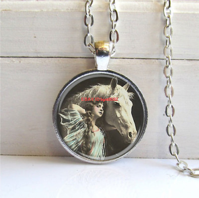 Horse Necklace,Vintage Beauty With Horse necklace,Horse Art Pendant,HorseJewelry