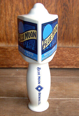 "BLUE MOON Belgian White Style Wheat Ale Beer 7"" Ceramic Tap Handle        Lot #8"