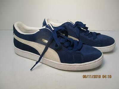 chaussures de sport 815d7 06ebb PUMA SPORT LIFESTYLE Blue Suede Sneakers Size 7 Made in Indonesia