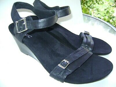 Women's Leather Sandals Size Orthaheel Laurie Black Wedge Vionic Shoes Noble 10 TOZwPkXiul