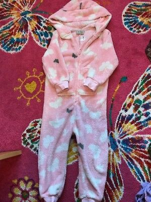 Next Girls Fleece All In One Bodysuit One Piece Pyjamas 3 Years
