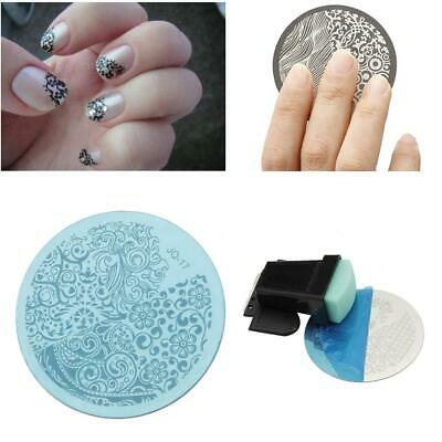 10pcs Manicure Template Nail Art Image Stamping Polish Print Plate Stamper DN
