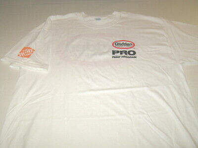 Home Depot Glidden Professional Pro Paint Program Bright White T Shirt New Xl