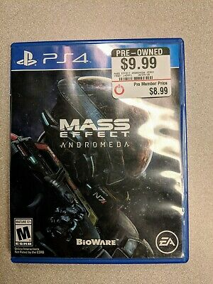 Mass Effect: Andromeda (Sony PlayStation 4, 2017) Great Game - Good Condition