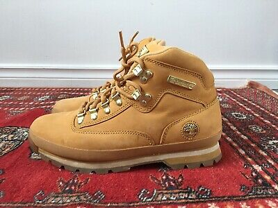 7f0ed77e190 NEW!* TIMBERLAND MENS Euro Hiker Boots Black Leather US 10M - $97.75 ...