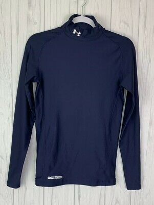 3f44b3b484 Under Armour Women's ColdGear Authentic Mock Navy Compression Shirt Size  Medium