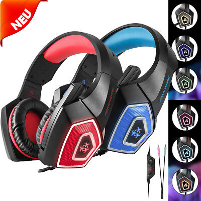 PC Computer Gaming Headset with Mic Surround Over Ear Headphone For PS4 Xbox One