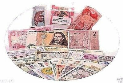 50 Different Banknotes from 50 Different Countries Uncirculated Mint Set