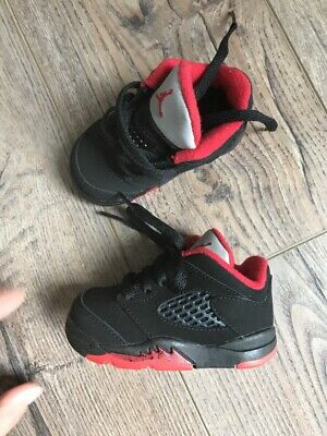 watch bedc6 bc6ff NEW NIKE JORDAN shoes baby boy sz 4 red black gray