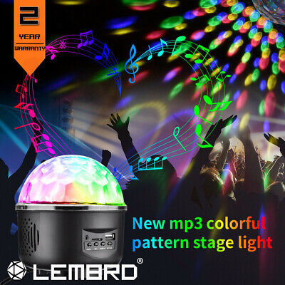 New Disco Party DJ LED RGB Stage Effect Light Lamp Laser Crystal Magic Ball