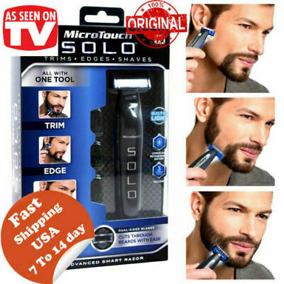 Micro Touch SOLO Rechargeable Trims Edges Razor Shaver As Seen On TV MicroTouch