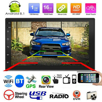 """2DIN 7"""" HD Android 8.1 Car Bluetooth Stereo GPS WiFi USB FM In-Dash MP5 Player"""