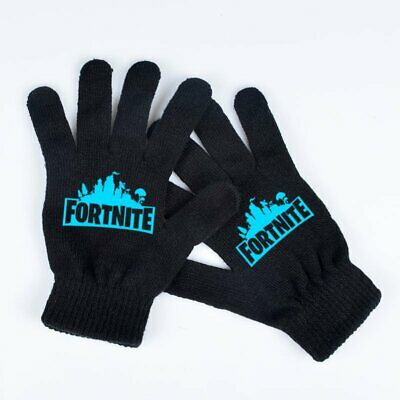 Kids Boys Pair of Royale Battle Gown in dark Winter Warmer Gloves Black Color