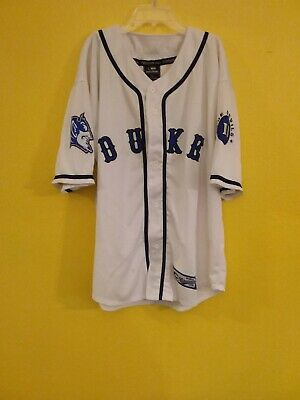 new arrival 15d84 6479f DUKE BLUE DEVILS Mens Size Large Baseball Jersey Vintage ...