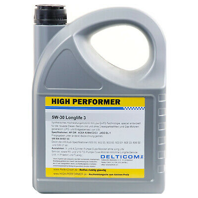 High Performer 5W-30 VW Longlife 3  5 Liter Kanne