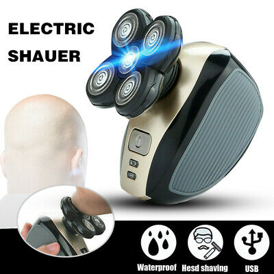 Men's Shavers 4D Rotary Electric Shaver Rechargeable Bald Head Beard Trimmer AU