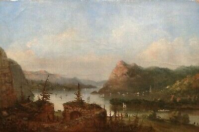 19th Century Early American Hudson River School West Point Landscape LEGRAND