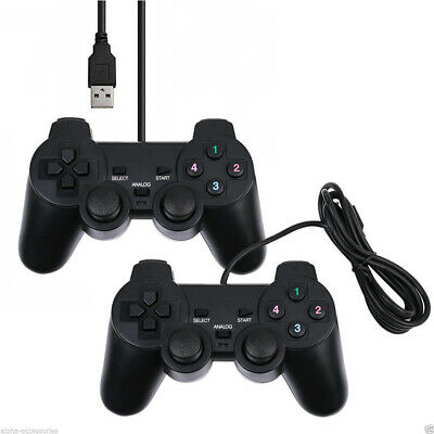 2x Wired Gamepad Game Controller Joypad USB 2.0 for Laptop PC Computer PS2 O7F1X