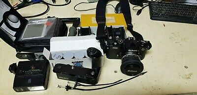 Nikon FM2 35mm SLR Film Camera, Chrome, with Nikon MD-12 Drive. SEE PHOTO'S.