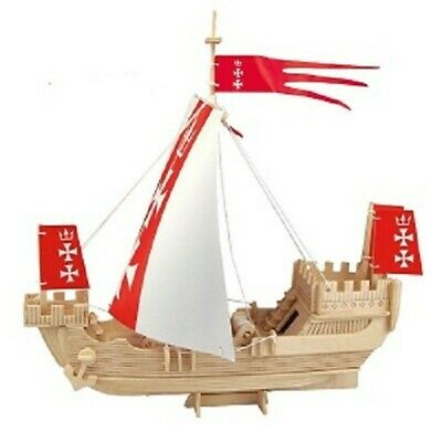 Woodcraft Construction Kit 3D Vessel of Hanseatic League - Australian Geographic
