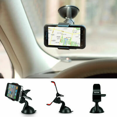 Universal In Car Mobile Phone Sat Nav Pda Clip Holder With Locking Suction Mount