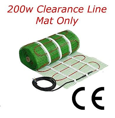 Electric Underfloor Heating mat kit 200w per m2 Limited Sizes (G)