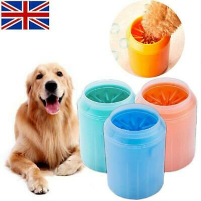 Dog Paw Cleaner Pet Cleaning Brush Cup Dog Foot Cleaner Feet Washer Portable UK