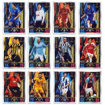 Match Attax 2018-2019: Man of the Match cards.18-19. All 60 available. Free post