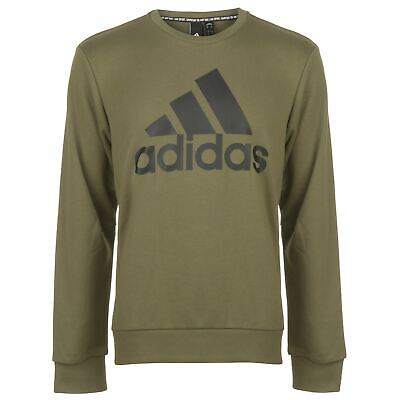 adidas Mens BOS Crew Sweatshirt Long Sleeve Performance Shirt T Top Jumper