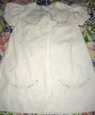 Gorgeous EUC Vintage Baby Girl Gown/Dress Flowers And Bows-Must See So Sweet!